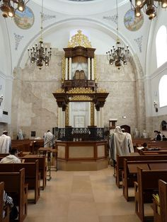 "Old Jerusalem Hurva Synagogue Morning Prayer (""Shacharit""), Israel"