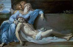Annibale Carracci (1560 Bologna - 1609 Roma ) Pietà 1603 41,3 cm x 60,7 cm Kunsthistorisches Museum Wien, Gemäldegalerie
