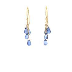 Blue Kyanite Cascade Earrings