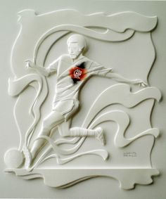 Escultura de Papel incrível por Carlos Meira - Flamengo