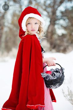 Little Red Riding Hood themed photoshoot. awesome.