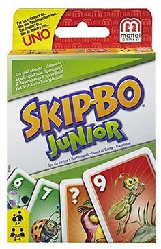 Skip-Bo Junior Card Game, New, Free Shipping