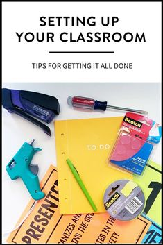 Getting your classroom set-up doesn't have to be stressful! Ideas for getting it all done efficiently and effectively, from classroom decor to organization. | http://maneuveringthemiddle.com via @maneveringthem
