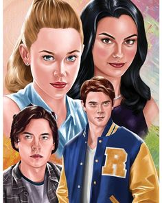 This reminds me of stranger things art, I looovvveee riverdale!