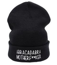 ABRACADABA MOTHERF**KER Beanie Hat £8.99 http://www.teeisland.co.uk/shop/abracadaba-motherfker-beanie-hat/