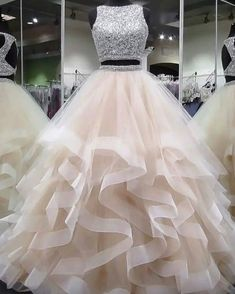 Plus Size Prom Dress, round neck tulle long prom dress, ball gown Shop plus-sized prom dresses for curvy figures and plus-size party dresses. Ball gowns for prom in plus sizes and short plus-sized prom dresses Cute Prom Dresses, Tulle Prom Dress, Elegant Dresses, Pretty Dresses, Homecoming Dresses, Wedding Dresses, Awesome Dresses, Gown Dress, Prom Outfits