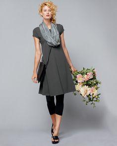 Eileen Fisher Organic Cotton Ballet-Neck Dress