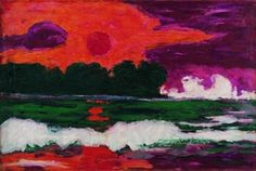 Emil NOLDE ( 1867 - 1956) figure de l'expressionisme allemand..