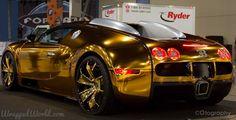 Gold Chrome Bugatti Veyron