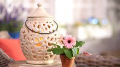 H210740 Indoor Outdoor Ceramic Hurricane includes a flameless candle http://qvc.co/-Shop-ValerieParrHill