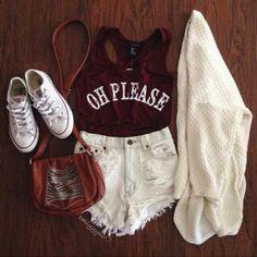 1- Esse look é perfeito pra ir ao parque de tarde, fazer um piquenique ou ir a um festival. O all star está super em alta de novo e combinado com shorts de cintura alta e uma t-shirt fofa, fica perfeito! Use e abuse.