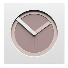 10-022-Q34C31B01O31M01 Wall clock KAM  - Do you like this color scheme? Plum grey, shell pink and white. Have fun creating your own #wallclockdesigns
