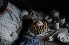 Local Milk | earl grey waffles & whipped honey cream