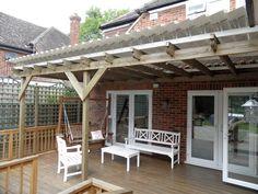 7 Binfield, Berkshire – Roofing existing pergola.