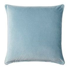 IKEA - SANELA, Cushion cover, light blue, Cotton velvet gives depth to the color and is soft to the touch. The zipper makes the cover easy to remove. Blue Cushions, Velvet Cushions, Coastal Christmas Decor, Blue Bedroom Decor, Casa Loft, Ikea Us, Soft Furnishings, Cushion Covers, Cover Pillow