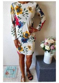 Krásné bavlněné šaty tunika Více vzorů Mají boční kapsy Dresses With Sleeves, Long Sleeve, Fashion, Gowns With Sleeves, Moda, Sleeve Dresses, Fasion