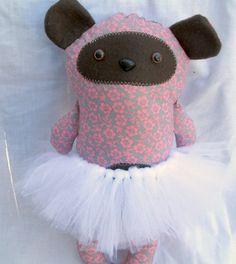 Dear Prudence Bear Plushie Handmade Stuffed by DivineLuluCreations, $22.00