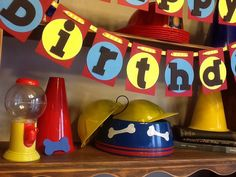Paw patrol theme Happy Birthday banner & party by PeytonsTreasure