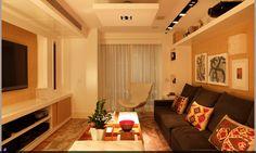 móvel para parede e iluminação