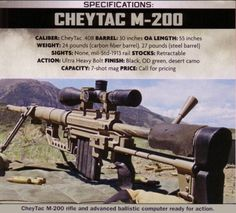 CheyTac M-200 Intervention in .408 CheyTac