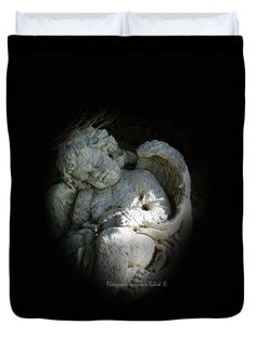 "Sleeping Cherub 1-2 Queen (88"" x 88"") Duvet Cover by Tamara Kulish"