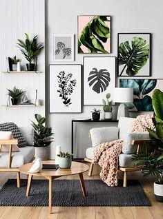 Leaf Art, Botanical Prints, Scandinavain Prints, Nature Inspired Decor. Prints starting from $6.69! Simple and affordable home decor DIY!