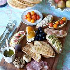 Bruschetta or Crostini Party. Ideas and recipes. And do you know the difference between the two?