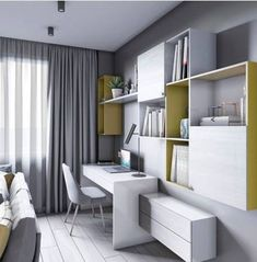 Teen Room Decor: Everything You Need For The Coolest Room Ever Kids Room Design, Home Office Design, Home Office Decor, Home Interior Design, Teen Room Decor, Living Room Decor, Bedroom Decor, Master Bedroom, Small Home Offices