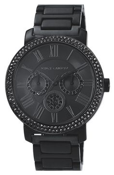 Vince Camuto Crystal Bezel Chronograph Bracelet Watch, 42mm available at #Nordstrom