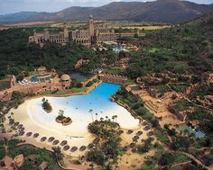 The Beach and Wave Pool :-) Sun City Resort Sun City, North West Province, South Africa Sun City South Africa, South Africa Safari, North Africa, Sun City Palace, Sun City Resort, North West Province, Places To Travel, Places To Visit, African Holidays