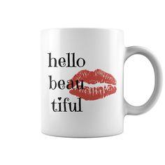 Hello Beautiful Girlfriend Birthday Gift Ceramic Mug Coffee Mugs Novelty Tea Cup Porcelain White #girlfriendbirthday