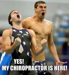Yep! World class athletes get adjusted to perform at their best. Imagine what chiropractic can do for you!