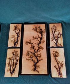 Electricaly Engraved Wooden Lichtenberg Figure by EngravedGrain: