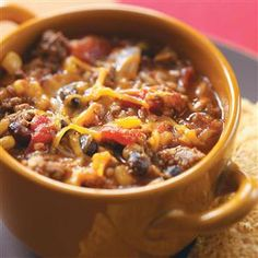 Slow Cooker Southwest Beef Stew - Looks good, but I may try it with regular beef instead of burger