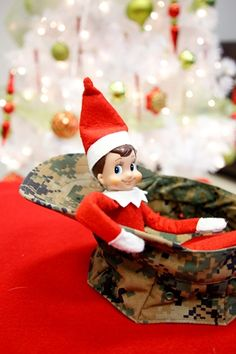 18 Military-Themed Elf on the Shelf Ideas I hope I never need the deployment ones but just in case.
