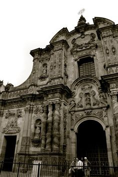Quito, Ecuador - They work renovating this cathedral when I was there...