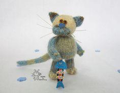 """Мастер - класс """"Котик-малыш"""" - МК,мастер-класс,описание,описание вязания"""
