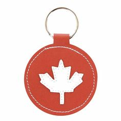 Mally Designs Canada Leather Keychain Ring Key by MallyDesigns