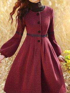 Cappotti lunghi trench coat vintage winter mant el manto manteau un designer Muslim Fashion, Modest Fashion, Hijab Fashion, Fashion Dresses, Vintage Style Outfits, Vintage Dresses, Vintage Fashion, Fashion Mode, Womens Fashion