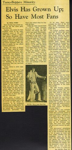 Elvis Presley Newspaper Concert Review For his June 1972 show at Ft. Wayne IN. by rockinred1969, via Flickr