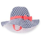 A geo print with a contrast bow is an adorable way to top off her favorite sundresses and swimsuits. Plus, this hat will keep her head and face protected from the sun!<br>