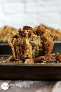 Banana Pecan Crunch Muffins | Spend With Pennies