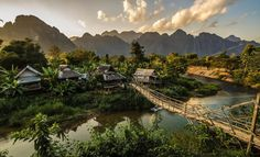 A small, farming village in the jungle near Vang Vieng, Laos