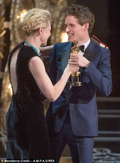 Cream of the crop! Eddie collected his award from actress Cate Blanchett, who rewarded the...
