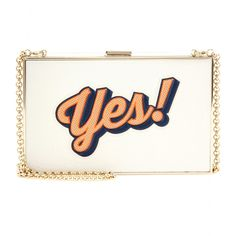 Anya Hindmarch - Imperial leather box clutch - We love the clutch-able compact size - it works just as well with or without the chain shoulder strap - @ www.mytheresa.com