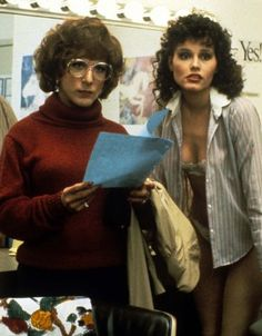 Tootsie by Sidney Pollack with Dustin Hoffman, Geena Davis, Bill Murray, Jessica Lange. Geena Davis, Sydney Pollack, Thelma Louise, Dustin Hoffman, Image Film, World Movies, Hooray For Hollywood, Funny Movies, Funniest Movies