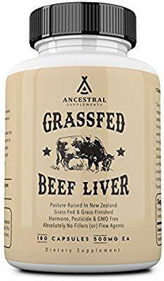 Amazon Com Ancestral Supplements Grass Fed Beef Liver Desiccated Natural Iron Vitamin A B12 For Ener Beef Liver Grass Fed Beef Vitamins For Healthy Hair