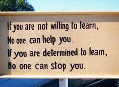 Determination is key in success.