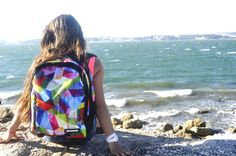 "#bonne backpack, ""Fusion"" stamp, #bags #bonnebags #fashion #girl"