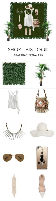 """""""Beautiful Style"""" by art-urbane on Polyvore featuring TradeMark, Chicwish, Melissa Odabash, Ray-Ban, Casetify, Gianvito Rossi and Viktor & Rolf"""